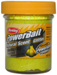 Berkley Powerbait Natural Scent Troutbait Garlic - Sunshine Yellow