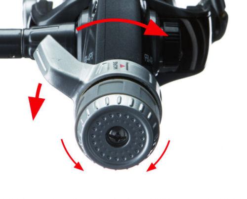 Low-Power Einstellung: Normale Bremseinstellung und Kampfbremse in Minimalbremskraftposition